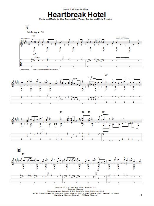 Tablature guitare Heartbreak Hotel de Kenny Sultan - Tablature Guitare