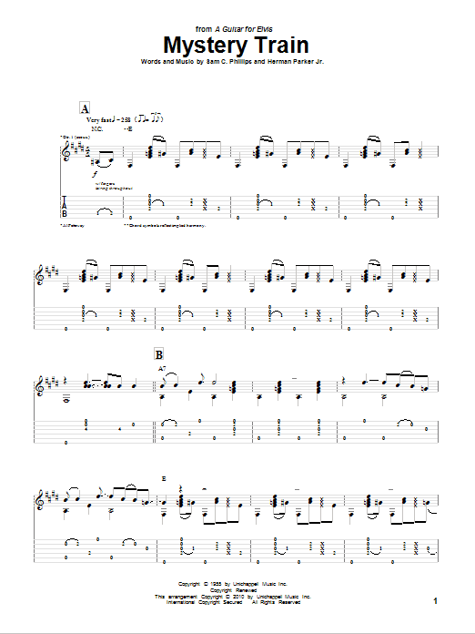 Mystery Train Guitar Tab by Al Petteway (Guitar Tab – 77931)