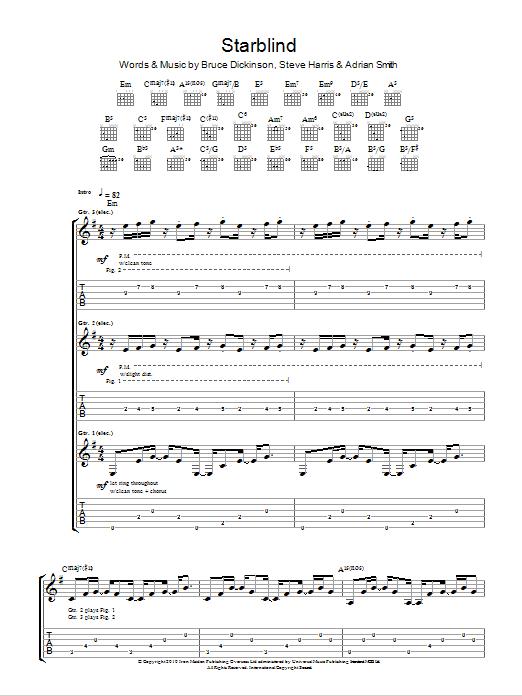 Starblind Sheet Music