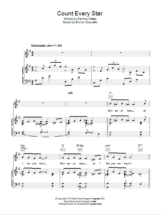 Count Every Star Sheet Music
