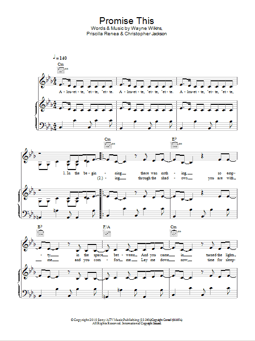Promise This Sheet Music