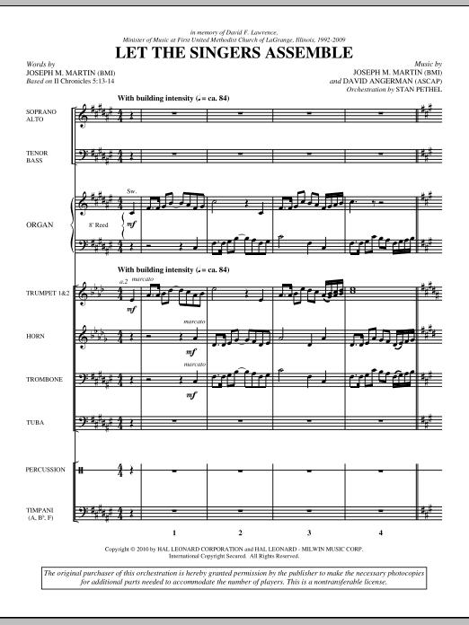 Let The Singers Assemble - Score (Choir Instrumental Pak)