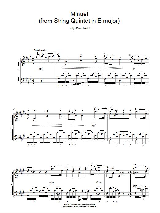 Minuet (from String Quartet in E Major, Op.11 No.5) Sheet Music