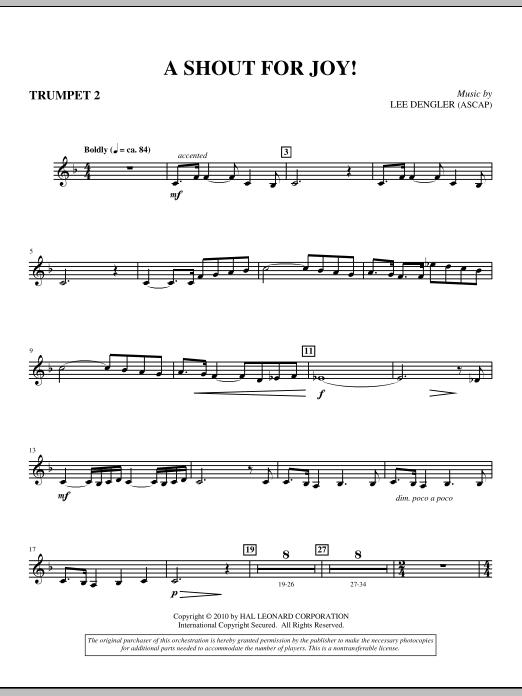 A Shout For Joy! - Trumpet II Sheet Music
