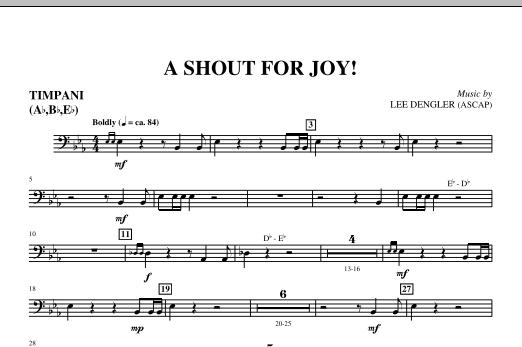 A Shout For Joy! - Timpani (Choir Instrumental Pak)