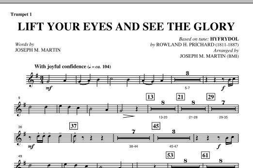 Lift Your Eyes And See The Glory - Bb Trumpet 1 (Choir Instrumental Pak)