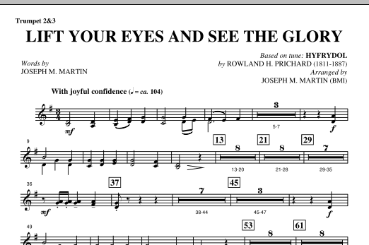 Lift Your Eyes And See The Glory - Bb Trumpet 2,3 (Choir Instrumental Pak)