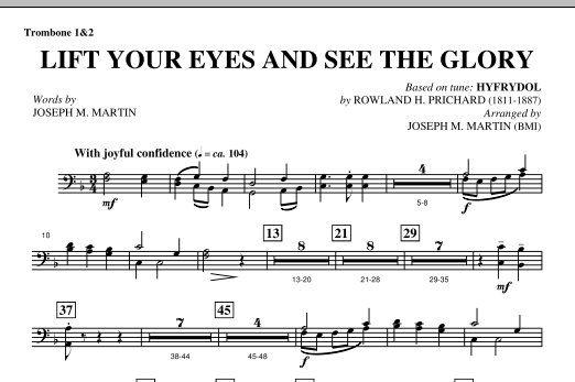 Lift Your Eyes And See The Glory - Trombone 1 & 2 Sheet Music