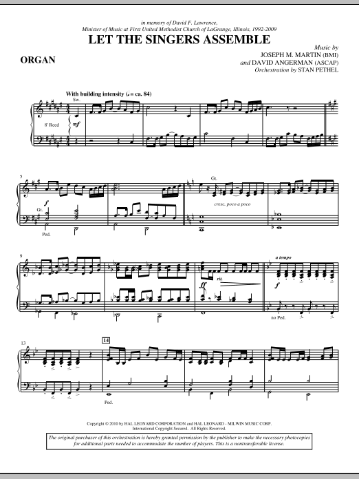 Let The Singers Assemble - Organ (Choir Instrumental Pak)