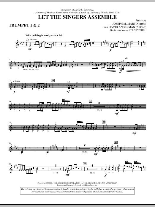 Let The Singers Assemble - Bb Trumpet 1,2 (Choir Instrumental Pak)