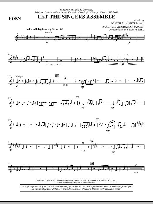 Let The Singers Assemble - F Horn (Choir Instrumental Pak)