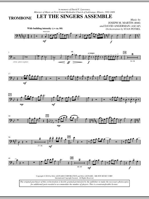 Let The Singers Assemble - Trombone (Choir Instrumental Pak)