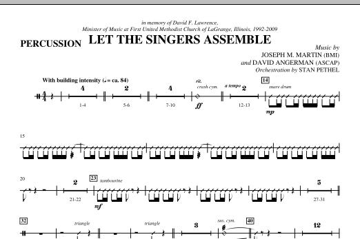Let The Singers Assemble - Percussion (Choir Instrumental Pak)