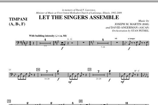 Let The Singers Assemble - Timpani (Choir Instrumental Pak)