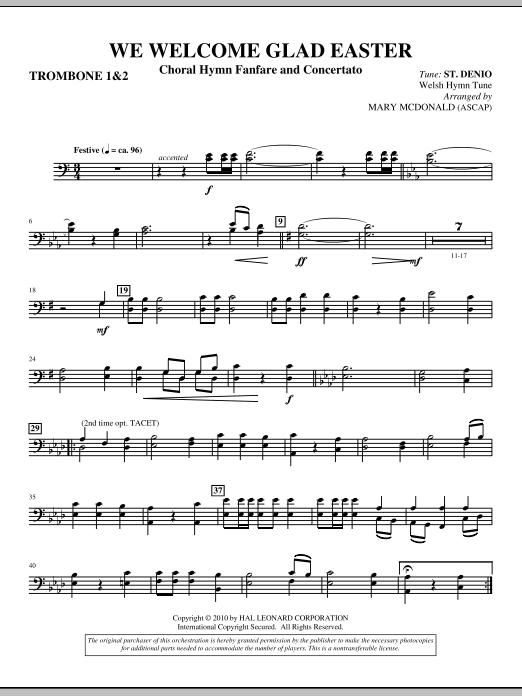 We Welcome Glad Easter - Trombone 1 & 2 (Choir Instrumental Pak)