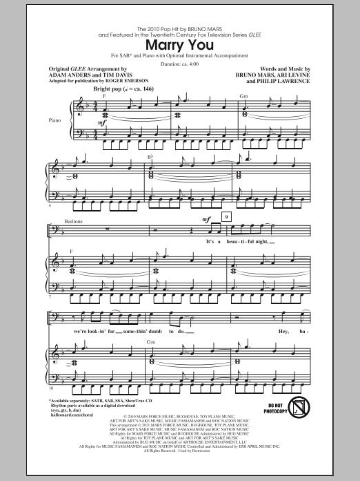 Marry You (SAB Choir)