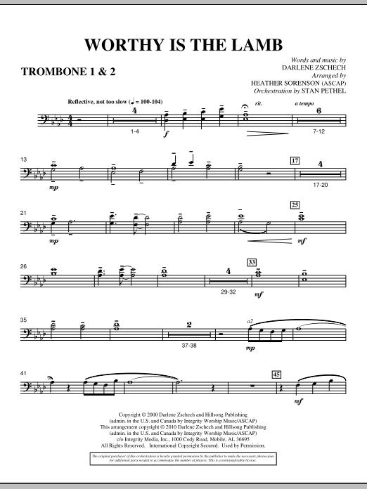 Worthy Is The Lamb - Trombone 1 & 2 (Choir Instrumental Pak)