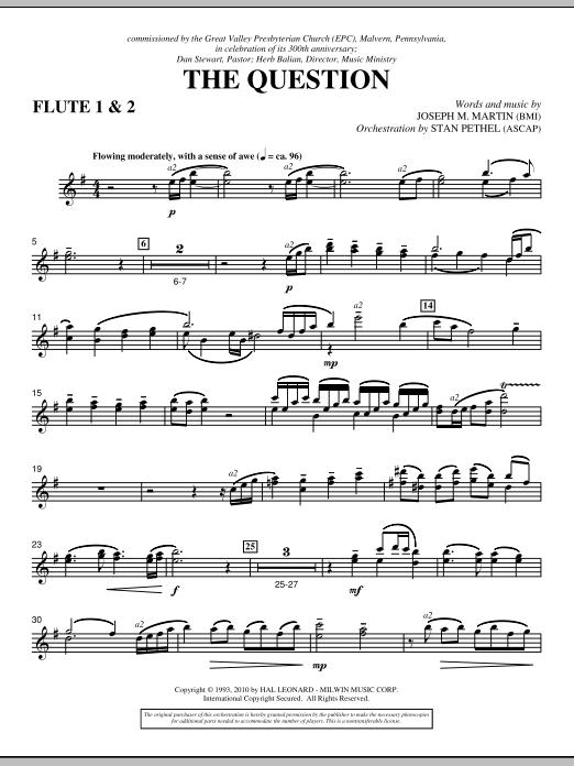The Question - Flute 1 & 2 (Choir Instrumental Pak)