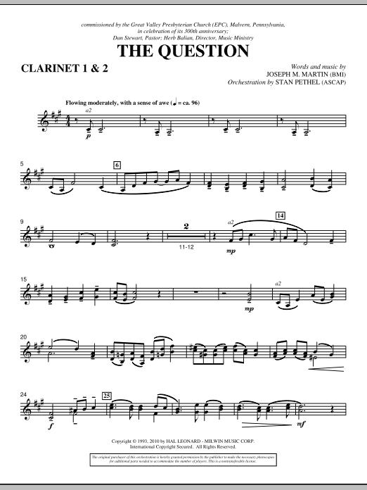 The Question - Bb Clarinet 1,2 (Choir Instrumental Pak)