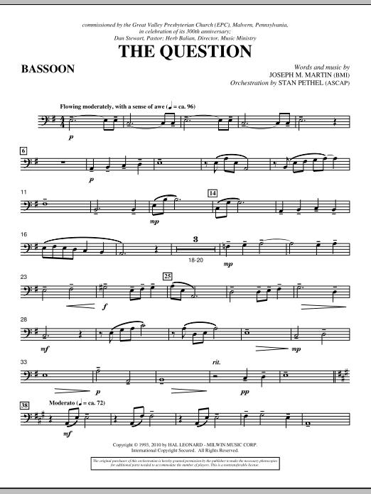 The Question - Bassoon (Choir Instrumental Pak)
