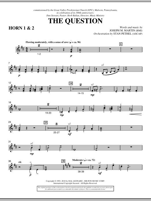 The Question - F Horn 1,2 (Choir Instrumental Pak)