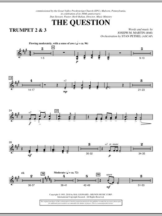 The Question - Bb Trumpet 2,3 (Choir Instrumental Pak)
