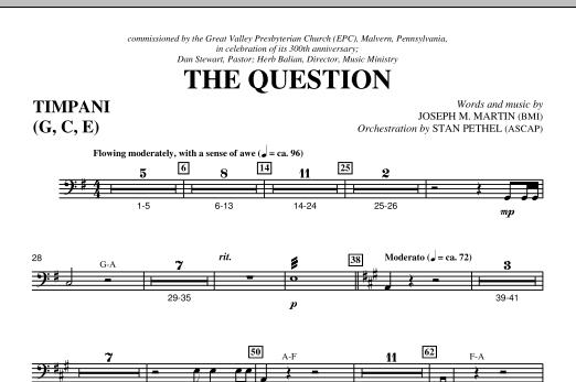 The Question - Timpani (Choir Instrumental Pak)