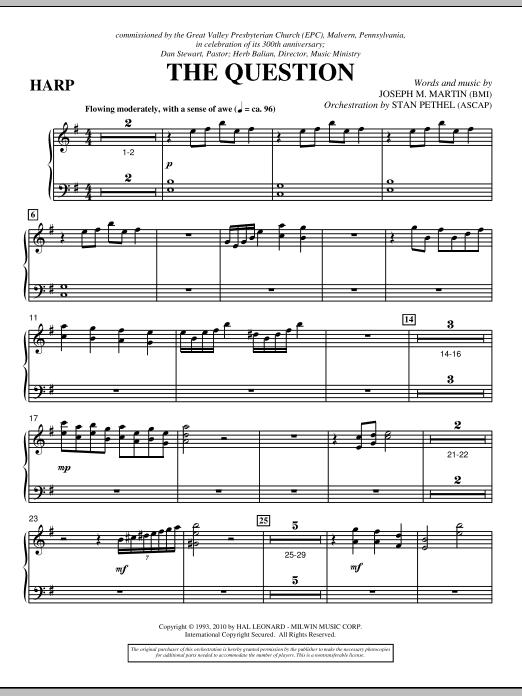 The Question - Harp (Choir Instrumental Pak)