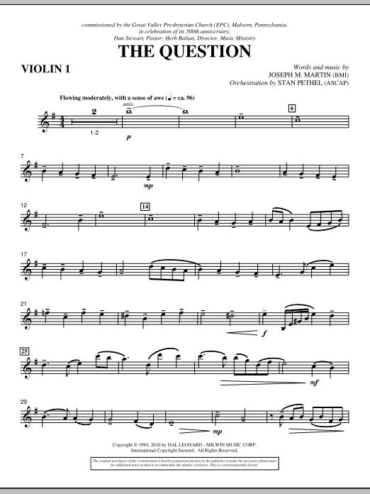 The Question - Violin 1 (Choir Instrumental Pak)