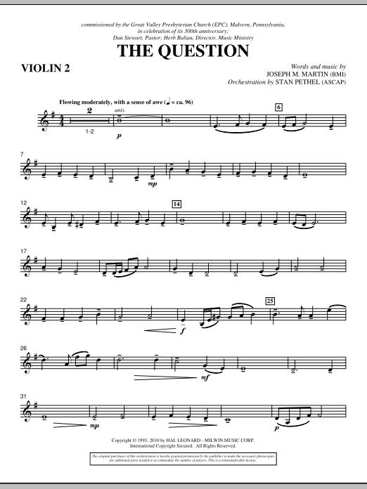 The Question - Violin 2 (Choir Instrumental Pak)