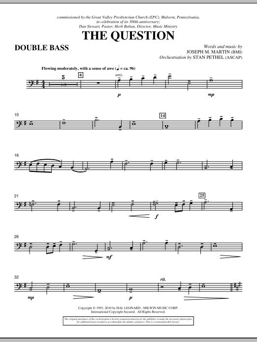 The Question - Double Bass (Choir Instrumental Pak)