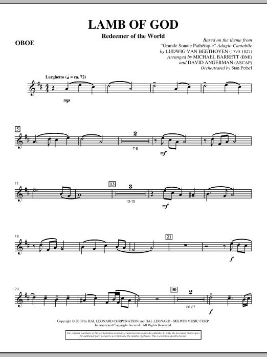 Lamb Of God (Redeemer Of The World) - Oboe (Choir Instrumental Pak)