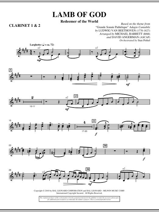 Lamb Of God (Redeemer Of The World) - Bb Clarinet 1,2 (Choir Instrumental Pak)