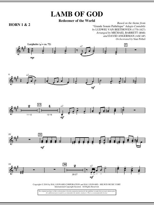 Lamb Of God (Redeemer Of The World) - F Horn 1,2 (Choir Instrumental Pak)