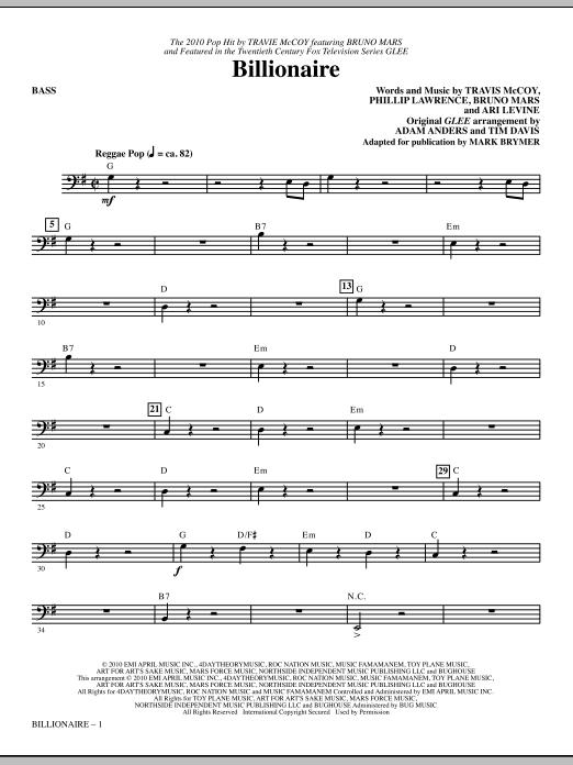 Billionaire - Bass Sheet Music