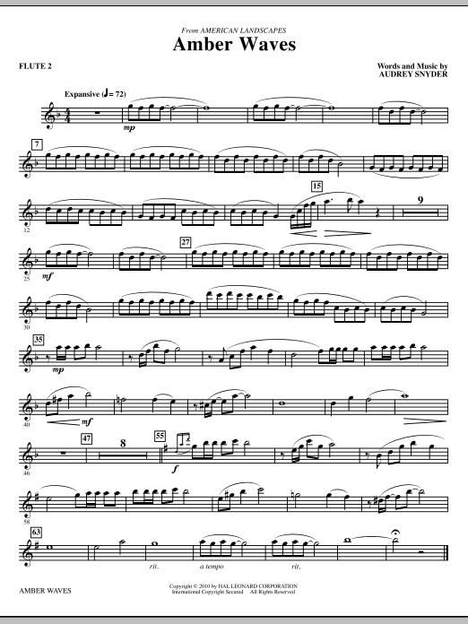 Amber Waves - Flute 2 (Choir Instrumental Pak)