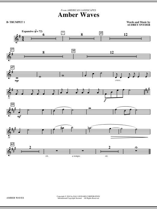 Amber Waves - Bb Trumpet 1 (Choir Instrumental Pak)