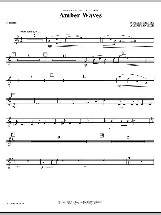 Amber Waves - F Horn (Choir Instrumental Pak)