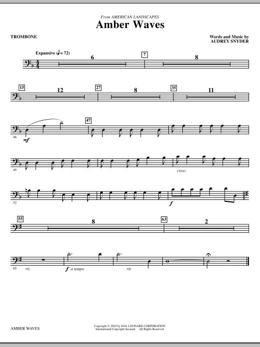 Amber Waves - Trombone (Choir Instrumental Pak)