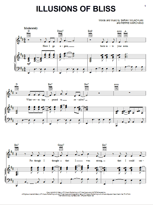 Illusions Of Bliss Sheet Music