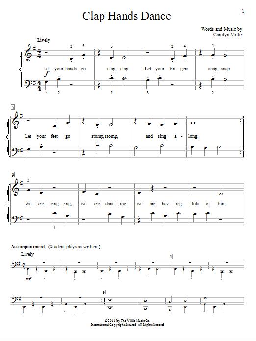 Clap Hands Dance Sheet Music