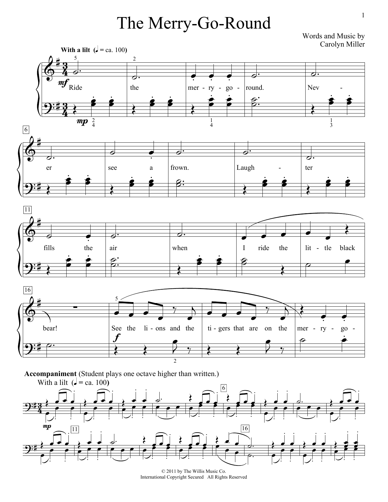 The Merry-Go-Round Sheet Music