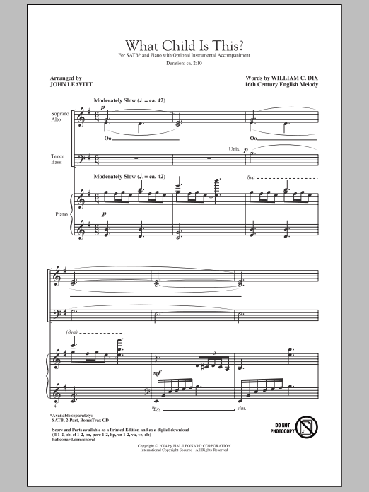 What Child Is This? Sheet Music