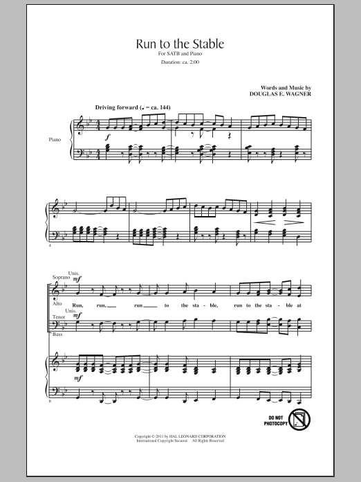 Run To The Stable Sheet Music