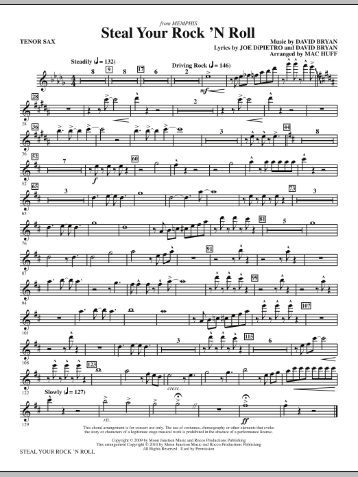 Steal Your Rock 'N Roll - Bb Tenor Saxophone (Choir Instrumental Pak)