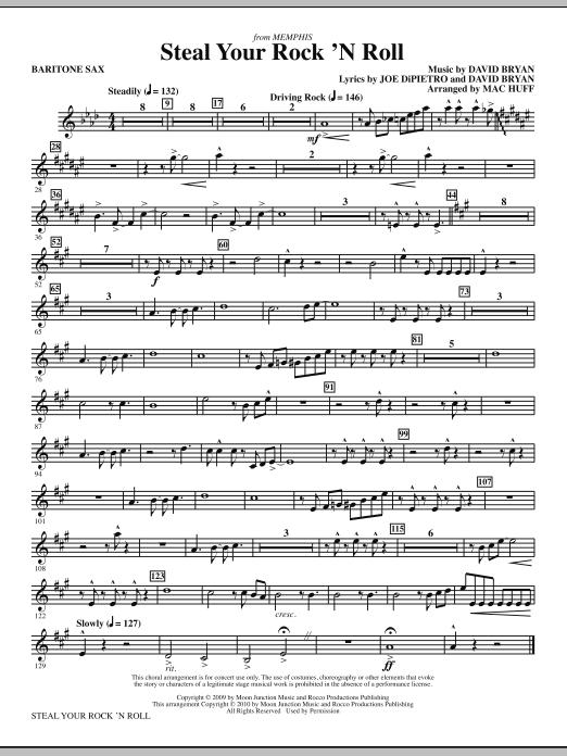 Steal Your Rock 'N Roll - Baritone Sax (Choir Instrumental Pak)