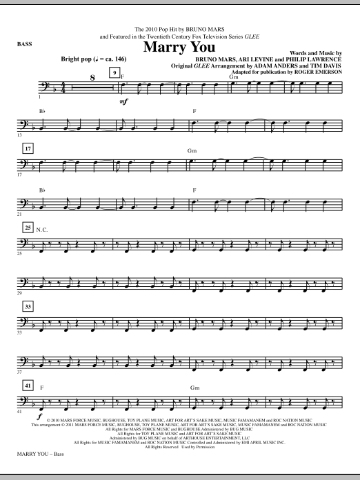 Bruno Mars Marry You Chords Piano Image Collections Chord Guitar