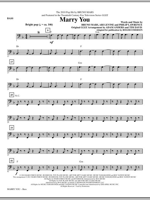 Marry You - Bass (Choir Instrumental Pak)
