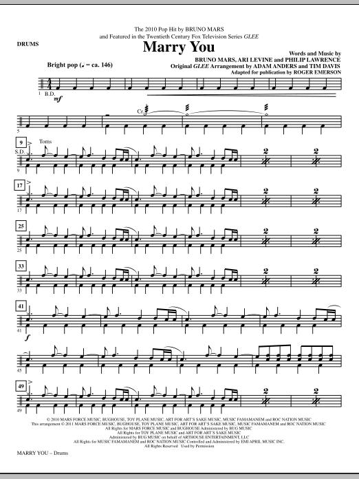 Marry You - Drums (Choir Instrumental Pak)