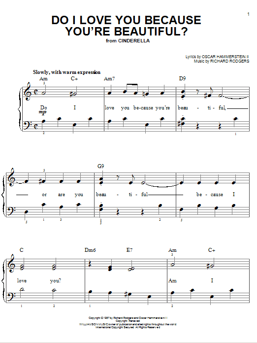 Do I Love You Because You're Beautiful? Sheet Music